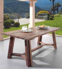 Table de repas 1m80 TONIC en mélange de bois recyclés - CASITA
