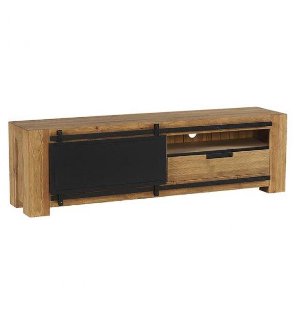 Meuble TV - 1 porte 1 niche 1 tiroir 180cm - NEW
