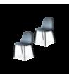 Chaise Felix pieds noir velours taupe - Opjet